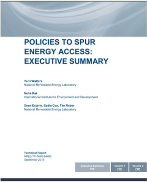 cover: Policies to Spur Energy Access