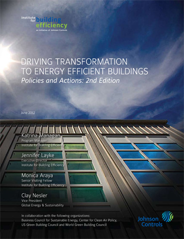 screen thumbnail of report cover for Driving Transformation to Energy Efficient Buildings: Policies and Actions