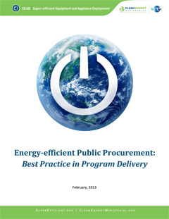 thumbnail cover of report titled Energy Efficient Public Procurement: Best Practice in Program Delivery