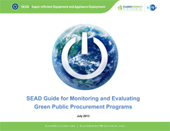 report cover for SEAD Guide for Monitoring and Evaluating Green Public Procurement Programs