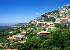 hillside town in ALbania