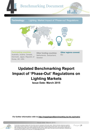 report cover: Updated Benchmarking Report: Impact of Phase-Out Regulations on Lighting Markets