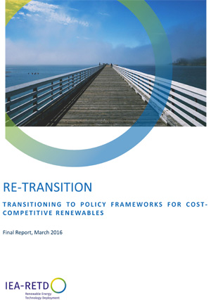 cover: RE-TRANSITION: Policy Frameworks for Cost-competitive Renewables report