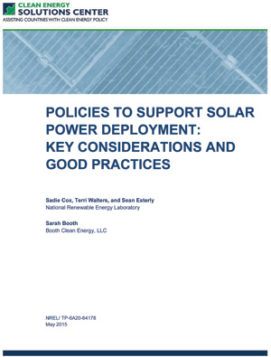 report cover: Solar Power: Policy Overview and Good Practices