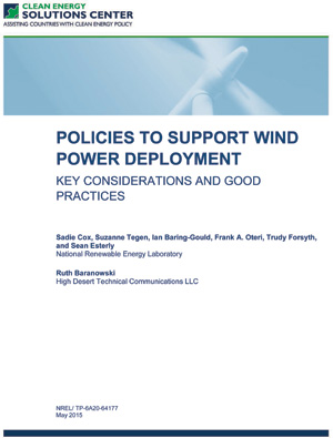report cover: Policies to Support Solar Power Deployment (300x395)