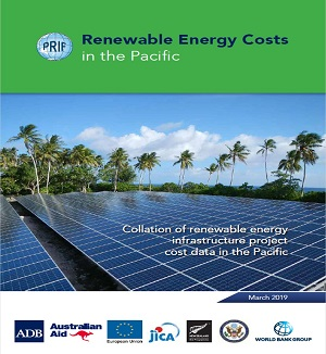 report cover: Renewable Energy Costs in the Pacific