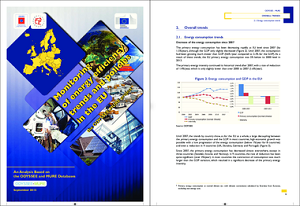 report cover: Synthesis: Energy Efficiency Trends and Policies in the EU